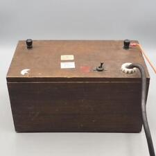 Vintage Physics Lab Wood Case Battery Charger