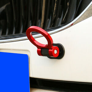1Pc Auto Car Ring Track Racing Style Tow Hook Look Decoration Red Accessories