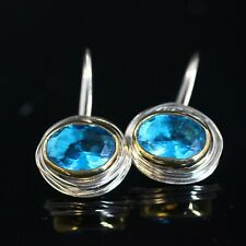 l925 Sterling Silver Handmade Turquoise Turkish Ladies Earring