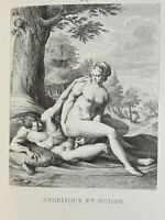 Carracci Erotik Penis Akt Vagina Angelica Medoro Antike Mythology Lithography