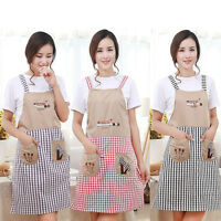 New Cute Home Womens Kitchen Restaurant Bib Cooking Aprons Pockets Lace Apron