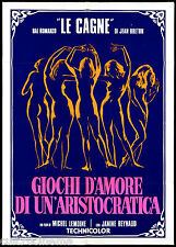 GIOCHI D'AMORE DI UN'ARISTOCRATICA MANIFESTO CINEMA FILM 1973 MOVIE POSTER 2F