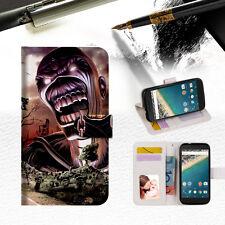 Iron Maiden Wallet Case Cover For Optus  X Sleek-- A014