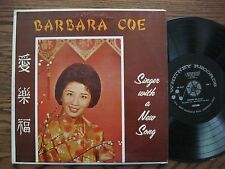 Barbara Coe LP Singer with a new song EX vinyl VG + cover Whitney Records WR4457