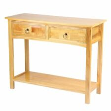 Console Table. STUNNING Kitchen Hall Table 2 Drawers and Shelf Solid Pine Wood