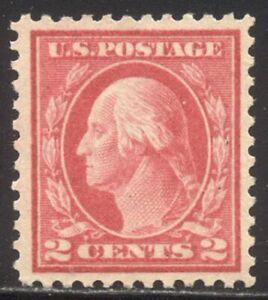 U.S. #461 SCARCE Mint - 2c Pale Carmine Red, P11 ($150)
