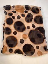 Vintage Emily Wetherby Silk Sheer Chiffon Scarf Brown Black 18� x 40�