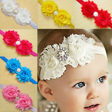 10 Pcs Bulk Girl Baby Infant Kid Flower Headband Hair Bow Band Elastic Hairband