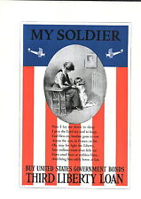 1919 My Soldier B H Green Prayer Flag Biplane Mini Poster Ww1 Liberty Loan War