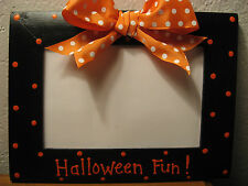 HALLOWEEN FUN Frame  Happy Halloween kids family pumpkin photo picture frame