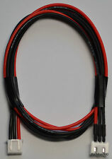 2S JST-XH Balance Tap Extension Adapter - 60CM 20awg Heavy Duty Red / Black Wire