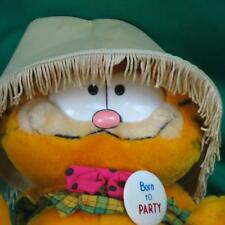 VINTAGE WITH TAGS BORN TO PARTY GARFIELD LAMPSHADE PLUSH STUFFED 1981