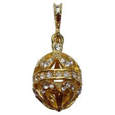 Pendentif Lunes style Faberge décorée par strass Bijou raffiné Cadeau femme