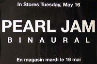 Pearl Jam 2000 Binaural Original Black Promo Poster