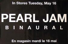 Pearl Jam 2000 Binaural Black Promo Poster Original