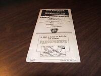 JULY 1964 PRR PENNSYLVANIA RAILROAD FORM 15 PUBLIC TIMETABLE