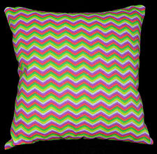 ae+3s Green Lime Fluorescent Zig Zag Cotton Canvas Cushion Cover/Pillow Case