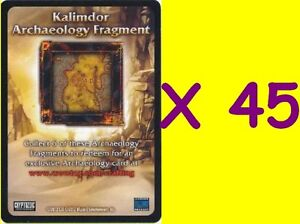45 x Archaeology Fragment-Tomb of the Forgotten-Aftermath-New-WoW