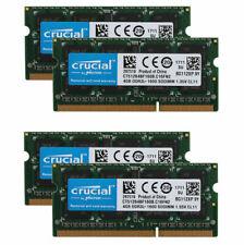 Crucial 4X 4GB DDR3 1600MHz PC3L-12800 CL11 204PIN SODIMM Laptop RAM Intel CPU