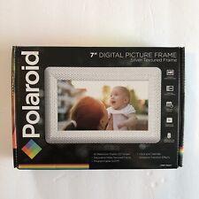 Polaroid PDF-750ST Digital Photo Frame with Decorative Textured Silver Metal
