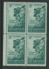 USA - 1955, 3c Turquoise, Old Man of the Mountains Block of 4 - M/M - SG 1070
