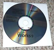 Microsoft Works 9 Software PC/Computer CD/Disc Dell X13-67175 Mexico/Spanish