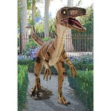 NE110015 Velociraptor, Jurassic-sized Dinosaur Statue - 5' Tall!