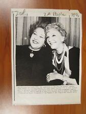 Vintage AP Wire Press Photo Actors Mary Martin & Ethel Merman, Somersaults #2