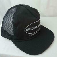 Mesh Snapback Trucker Hat Cap Made USA Vernon Headliner Black Mechanical Company