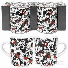 Disney Mickey Mouse Repeat Set of 2 Mini Mugs Espresso Retro Official