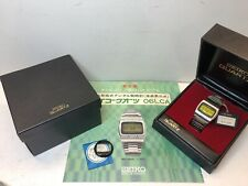 NOS Mint SEIKO 0624 5000 1974 LC Quartz LCD Digital watch Lemon 06LCA Uhr MOT