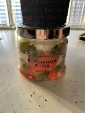 PartyLite 3 Wick Jar Candle Persimmons Cider