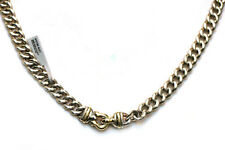 DAVID YURMAN New 10mm Single Buckle Curb Chain Silver & 14K Gold Necklace 21.5""