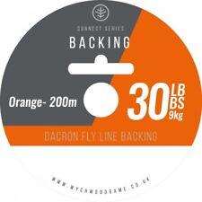 Backing Line Fly Fishing 30lb B/s 200 Metres Orange Dacron Wychwood