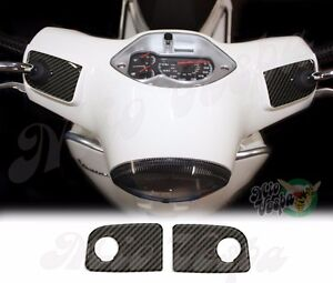 Carbon Look Handlebar pump covers overlay 3D Decals stickers Vespa GTS 250 300