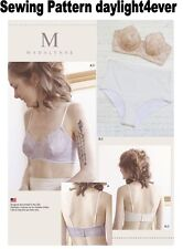 Women Underwire Bras Panties Size XS-XL Simplicity Sewing Pattern 8229 k New 32A