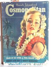 Mar 1939 Cosmopolitan Magazine-B Crandall/E Hemmingway/JM Flagg-FREE S&H(C5588)