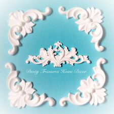 5x Shabby Chic Corner French Furniture Moulding Furniture Applique Carving Onlay