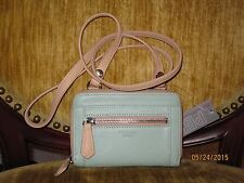 Perlina Mint Green Leather Melanie Crossbody NWT
