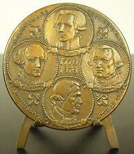 Médaille Indépendance des Etats-Unis USA Révolution américaine 1776 68 mm Medal