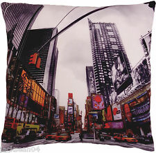 """FUNKY NOVEL TIMES SQUARE NEW YORK AMERICAN RED BLACK CUSHION COVER 17"""""""