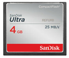 SanDisk CF Ultra 4GB CompactFlash I Memory Card SDCFH-004G 4 GB