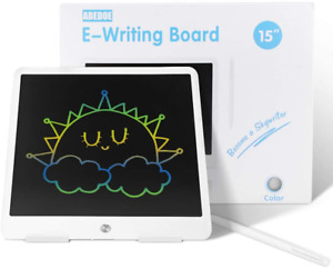 LCD Writing Tablet, ABEDOE 15 Inch Electronic Kids Drawing Board, Colorful Light