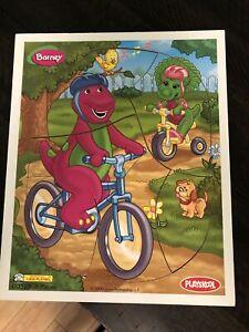 Playskool Barney Baby Bop Dinosaur Preschool Puzzle Pcs. 00328 Vintage 2000