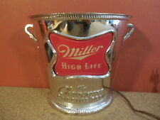Vintage Miller High Life Champagne of Beer Bucket Lighted Wall Sign Light