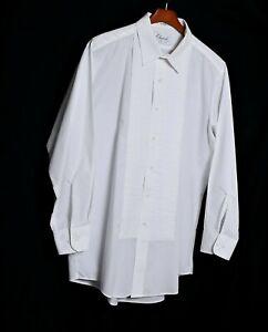 Formal CLASSIX Pleated White Tux Shirt_Regular Collar_sz.16/16 1/2 - 32/33