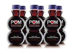 POM Wonderful, Pomegranate Blueberry, 100% Juice, 16 Fl Oz (Pack of 6)
