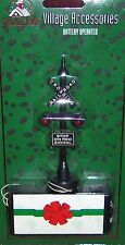 CHRISTMAS HOUSE MINIATURE BATTERY OPERATED RAILROAD CROSSING TRAIN SIGN VGC