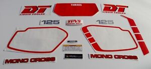 Yamaha Dt125 LC YPVS 1985 1986 1987 1988 autocolantes stickers decal graphics