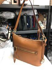 Michael Kors Rhea Zip Medium Flat Bottom Shoulder Messenger Bag Luggage Leather